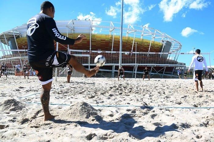 O futevôlei é uma das modalidades não olímpicas aptas a receber o benefício da Bolsa-Atleta. Foto: Abelardo Mendes Jr./ME