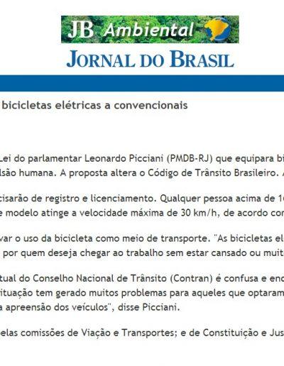 2012.10.19 - JB Ambiental - Jornal do Brasil - Câmara analisa projeto que equipara bicicletas elétricas a convencionais