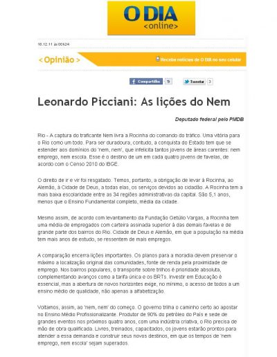 artigo Leo 11.12.18 O Dia
