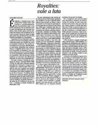 Artigo Leo O Globo Opinião