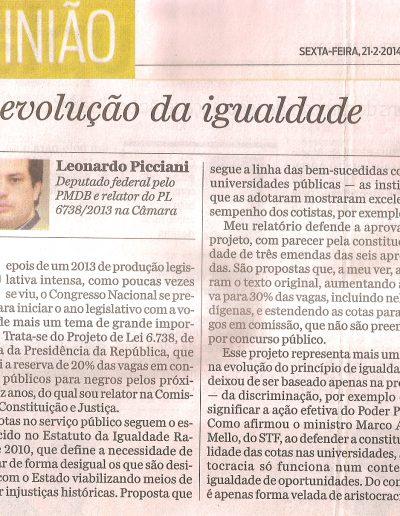 artigo Leo cotas Jornal O Dia