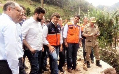 Ministros do Esporte e da Integração Nacional visitam Petrópolis em apoio às áreas atingidas pelas chuvas