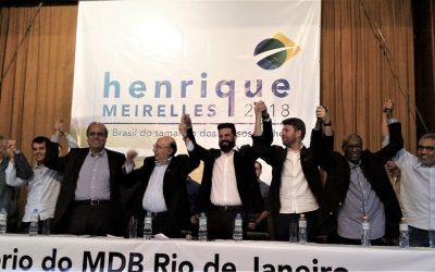 Encontro de Henrique Meirelles com o MDB-RJ reúne centenas de pessoas e mostra a força do partido